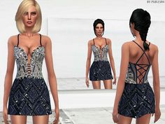 The Sims Resource: Sequined Dress by PureSim • Sims 4 Downloads