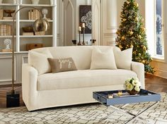 The Stretch Ava Slipcover Collection; Perfect for your Holiday Decorating