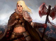Snow Barbarian Leader by TheBoyofCheese.deviantart.com on @DeviantArt