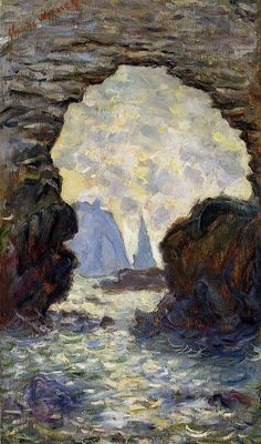 Claude Monet 1885 The Rock Needle and the Porte d'Aval oil on canvas 165.1 x 81 cm