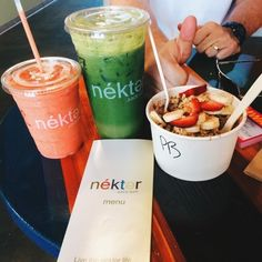nekter juice bar!!!! PB Acái Bowl! (on the blog!)