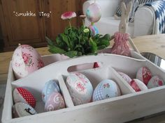 DIY: Fabric covered Easter eggs - Smukketing.blogspot.de