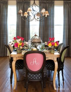 It is all so pretty, but......Check out the Chairs.