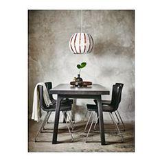 IKEA - VÄSTANÅ / VÄSTANBY, Pöytä, Lakattu pinta on helppo pyyhkiä puhtaaksi.Kokoamisen helpottamiseksi pöytälevyssä on valmiit reiät jalustaa varten.