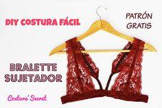 DIY Bralette - como hacer bralette - moldes bralette - patrones bralette - coser bralette