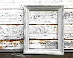 18x24 white frame rustic vintage frame by thedistressinggirl