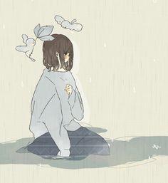 溢。 Chica Anime Manga, Kawaii Anime, Aesthetic Anime, Aesthetic Art, Anime Art Girl, Manga Art, Kaai Yuki, Dibujos Cute, Sad Art