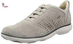 Geox Shahira B, Sneakers Basses Femme, Blanc (White/Silverc0007), 39 EU