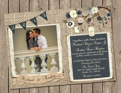 Hey, I found this really awesome Etsy listing at https://www.etsy.com/listing/188771584/rustic-wedding-invitation-burlap-jars