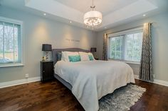 Clean, bright and finely designed bedroom. http://listings.mcdadi.com/idx/W3749723/Toronto/61-farningham-cres.html