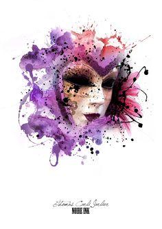 venetian mask watercolour - Google Search
