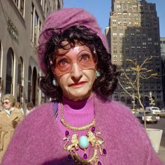 This is a great face and a human with ... spunk! These colorful images of New Yorkers in the 1970s are up close and beautiful.