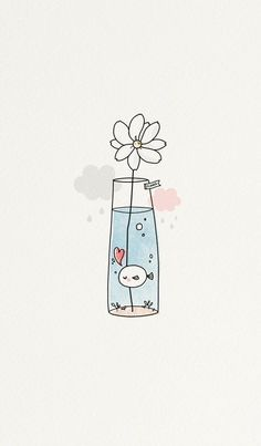 Imagem de cute, fish, and flower drawing apps Image about cute in Phone's Wallpapers 📱 by Amimi ~ 사랑 Cute Easy Drawings, Kawaii Drawings, Doodle Drawings, Drawing Sketches, Drawing Ideas, Simple Doodles Drawings, Cute Drawings Tumblr, Easy Flower Drawings, Drawing Poses