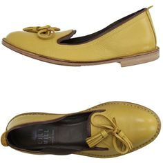 Lilimill Moccasins ($115) ❤ liked on Polyvore featuring shoes, loafers, yellow…