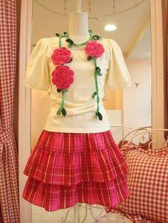 Crochet rose scarf diy-inspiration