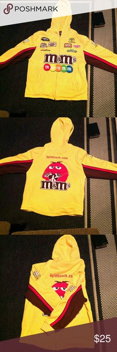M&M NASCAR ZIP-UP JACKET KYLE BUSCH #18 CLOUT LEVEL -☆☆☆☆☆!!! Chase Jackets & Coats