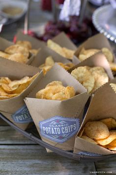 How To Make Cool DIY Potato Chip Bags With Brown Paper