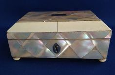 19th C. English Mother-Of-Pearl Jewelry Box