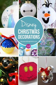 If someone in your family is a big fan of Mickey Mouse or a particular Disney Princess then you are going to LOVE these Homemade Disney Christmas Ornaments.  We've got everything from Mickey to Princess Elsa and they are so easy to make. So gather the family around and make an afternoon of it!