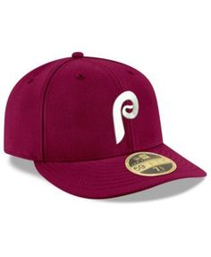New Era Philadelphia Phillies Cooperstown Low Profile 59FIFTY Fitted Cap - Red 7 1/8