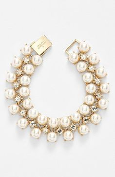 Free shipping and returns on kate spade new york 'twinkling fête' line bracelet at Nordstrom.com. Radiant faux pearls and princess-cut Swarovski crystal fill this sophisticated line bracelet with sparkle.
