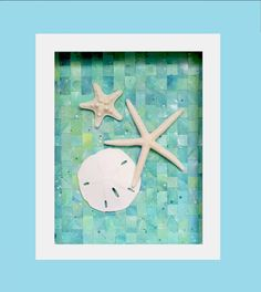 Starfish and Sand Dollar Beach Decor Emerald Seas by MadebyMonicaJ, $44.99