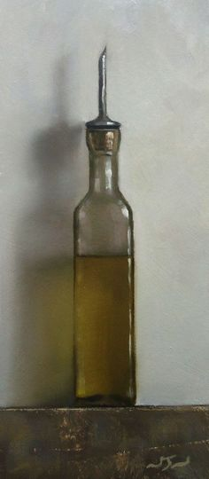 Olive Oil - Contemporary Still Life Art - Nelson
