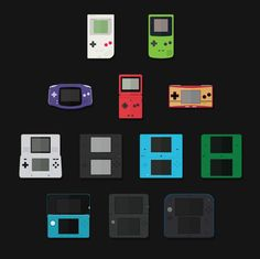 Free Nintendo Handheld Flat Icons Icons AI Device EPS Flat Free Games Graphic Design Handheld Icon Nintendo PNG Resource SVG Vector