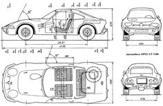 diagram size opel gt technical drawing opel gt 1900 pinterest 1970 triumph wiring diagram diagram esterior opel gt 1100