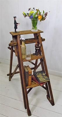 Charming ~ Vintage ~ Wooden Step Ladder / Retail Display / Shelves