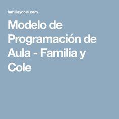 Modelo de Programación de Aula - Familia y Cole