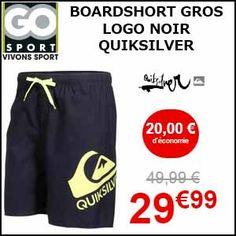 #missbonreduction; Remis de 20€ sur le BOARDSHORT GROS LOGO NOIR QUIKSILVER chez Go-sport. http://www.miss-bon-reduction.fr//details-bon-reduction-Go-sport-i855632-c1835483.html
