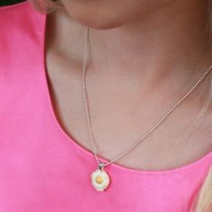 Bacon Scented Fried Egg Necklace