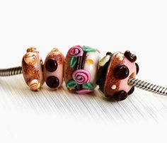 Maya-Honey Lampwork: Sweet Jewelry #forsale #etsy #glass #handmade #homemade #shopping #handcrafted #forgirl #jewelry #lampwork #fashion #mayahoney #bracelet #pandora #beads #european #europencharm #charm #charmbeads #troll #forbracelet #sweet #coffee