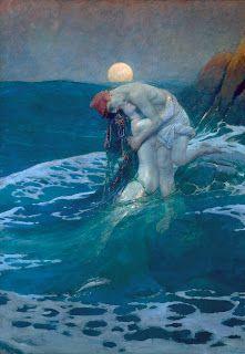 Howard Pyle:  The Mermaid, 1910