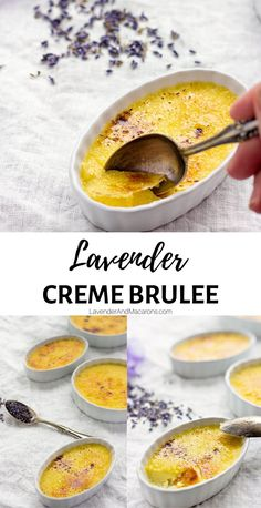 Lavender Creme Brulee. 5 simple ingredients make for a simple but elegant custard dessert for any occasion. This classic French recipeis easy to make and is sure to become your favorite summer treat. Homemade Desserts, Delicious Desserts, French Dessert Recipes, Dessert Ideas, Traditional French Recipes, Making Sweets, Mousse, Panna Cotta, Brulee Recipe