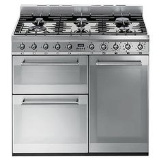 Popular Buy Smeg SY Symphony Dual Fuel Range Cooker Stainless Steel Online at johnlewis