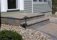 Give your concrete steps a new look with an overlay that is adhered to the surface. Completely transform the exterior of your home.