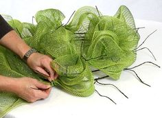 Party Ideas by Mardi Gras Outlet: Twig Works Deco Mesh Wreath Tutorial blog.mardigrasoutlet.com