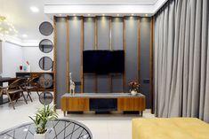 Tv Wall Design, Tv Unit Design, Interior Design Living Room, Living Room Designs, Living Rooms, Lcd Units, Led Panel, Apartment Design, Exterior Design
