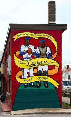 Nashua Dodgers 1946 Mural