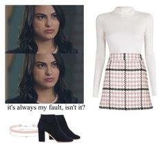 Veronica Lodge - Riverdale by shadyannon on Polyvore featuring polyvore fashion style A.L.C. Topshop Aquazzura Miss Selfridge clothing