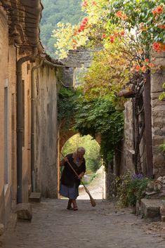 Village médiéval de Penne dans le Tarn. Penne, Midi-Pyrenees, France