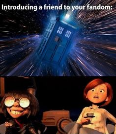 Yep. This was me introducing Hubby to Doctor Who... Totally legit.
