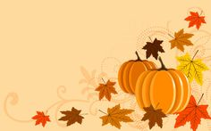 Pumpkins and leaves wallpaper