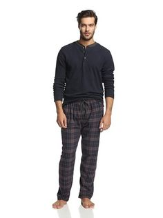 50% OFF Ike Behar Men's Pant and Thermal Henley Gift Set
