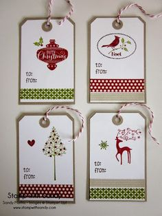 Stampin' Up Products Used: Stamp Sets: Warmth and Wonder, Create a Cupcake (little heart), Very Merry Tags (to & from), Best of Christmas, H...
