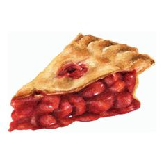 Cherry Pie - ORIGINAL Painting (Desset Illustration, Still Life,... (56 CAD) ❤ liked on Polyvore featuring home, home decor, wall art, food, filler, watercolor wall art, water color painting, watercolor painting, watercolor illustration and paper wall art