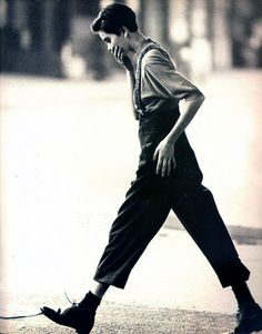 Tomboy style #pants #suspenders