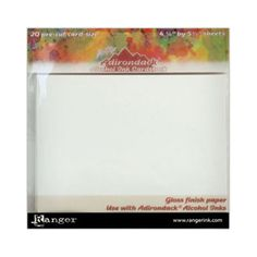Ranger® Tim Holtz® Adirondack® Alcohol Ink Cardstock - White - 4.25 x 5.5 inches